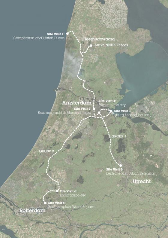 Study tour map