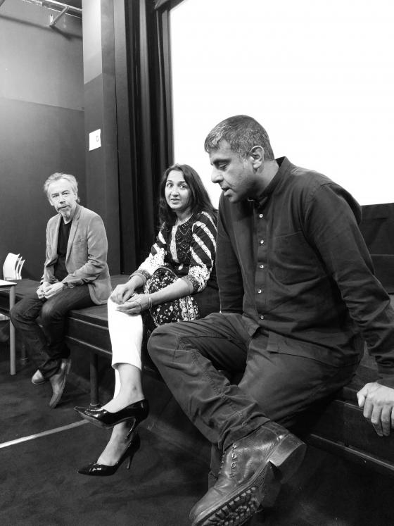 David, Amina and Anwar participate in the audience discussion