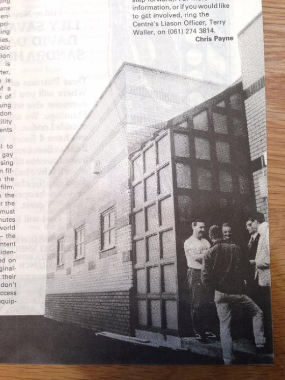 The brand new Gay Centre in 1988