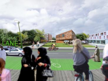 Birchills panoramic view of how Green Lane could look