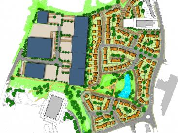 Indicative masterplan for Gibfield Park