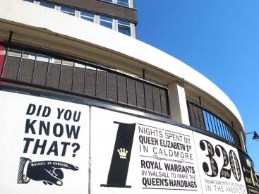 Mural of Walsall facts installed in Town Centre