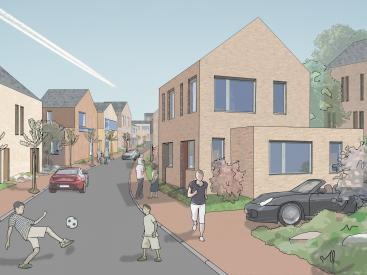 Artists Impression of Brow Wood Neighbourhood