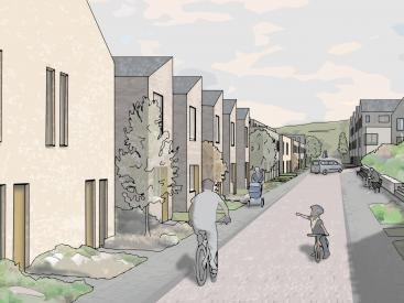 Artists Impression of Bolton Hall Neighbourhood