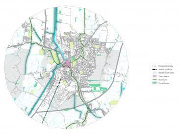 Wisbech: walking and cycling and public transport routes
