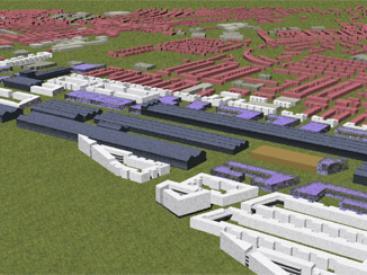 3D model of masterplan