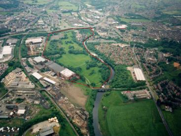 Aerial view of Bury