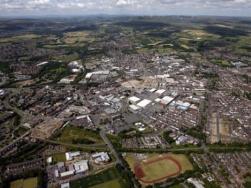 Bury aerial view