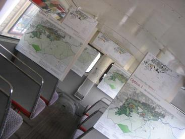 Consultation boards on our bus