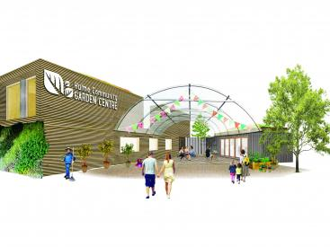 Hulme Community Garden Centre concept visual