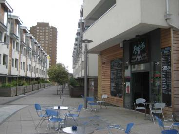 Brighton NEQ residential street above supermarket