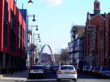 The reopened Stretford Road, one of the high streets identified by the guide