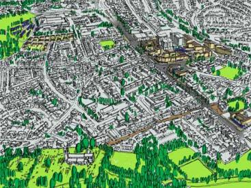 Aerial Perspective of Prestwich
