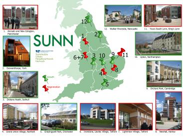 SUNN map of projects