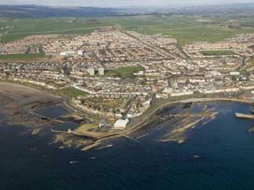 Aerial view of Saltcoats