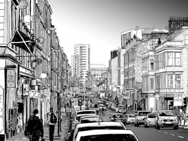 High Street sketch