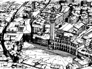 The compact urban settlement of Siena