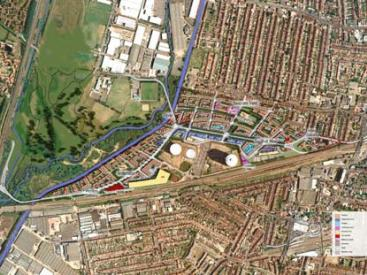 Southall Gas Works - Illustrative masterplan