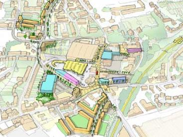 Darlaston town centre sketch