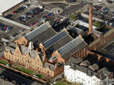 Victoria Baths Aerial View