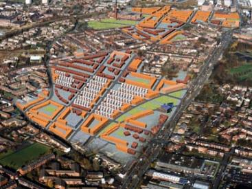 Aerial view of the Werneth/ Freehold masterplan