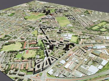 Old Trafford Masterplan model